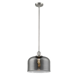 X-Large Bell Polished Nickel One-Light Hang Straight Swivel Pendant