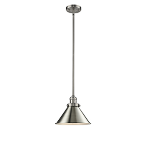 Briarcliff Brushed Satin Nickel 10-Inch One-Light Pendant