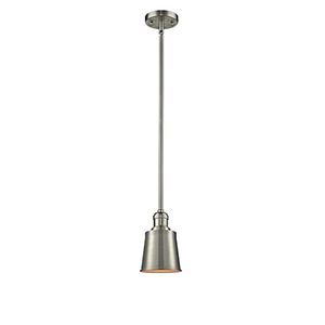 Addison Brushed Satin Nickel Six-Inch LED Mini Pendant