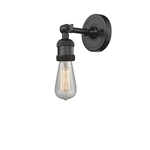 Bare Bulb Oiled Rubbed Bronze One-Light Wall Sconce