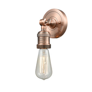 Bare Bulb Antique Copper One-Light ADA Wall Sconce