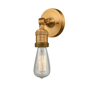 Bare Bulb Brushed Brass One-Light ADA Wall Sconce