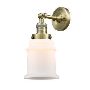 Canton Antique Brass LED Wall Sconce with Engraved Cast Cup