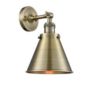 Appalachian Antique Brass One-Light Wall Sconce