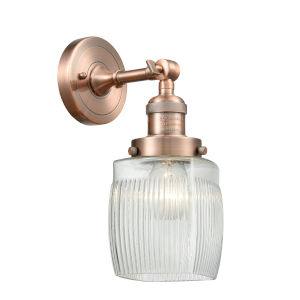 Colton Antique Copper LED Wall Sconce