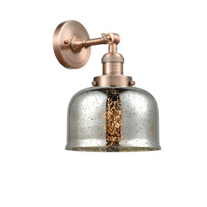 Large Bell Antique Copper One-Light Wall Sconce
