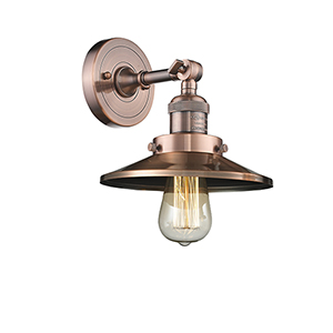 Railroad Antique Copper One-Light Wall Sconce