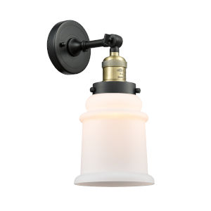 Canton Black Antique Brass LED Wall Sconce