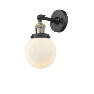 Beacon Black Antique Brass One-Light Wall Sconce