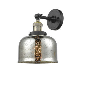 Large Bell Black Antique Brass LED Wall Sconce