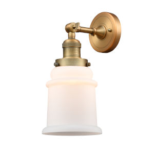Canton Brushed Brass One-Light Wall Sconce with Engraved Cast Cup