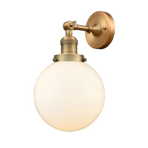 Large Beacon Brushed Brass One-Light Wall Sconce