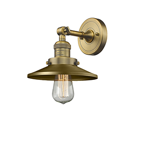 Railroad Brushed Brass One-Light Wall Sconce