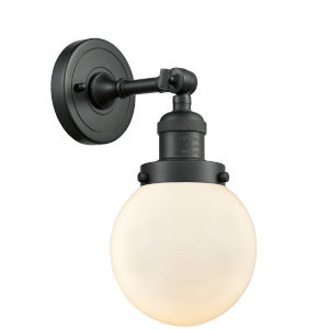 Beacon Matte Black LED Wall Sconce