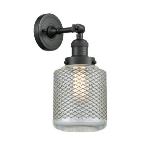 Stanton Matte Black One-Light Wall Sconce