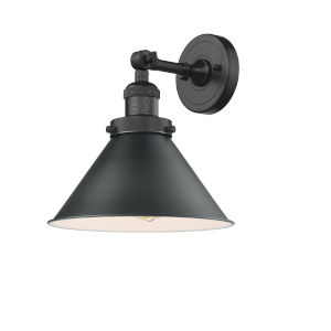 Briarcliff Matte Black One-Light Wall Sconce