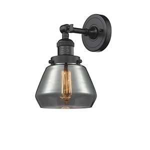 Fulton Oiled Rubbed Bronze 11-Inch LED Wall Sconce with Smoked Sphere Glass