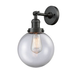 Large Beacon Oil Rubbed Bronze One-Light Wall Sconce with Clear Glass