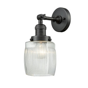 Colton Oil Rubbed Bronze One-Light Wall Sconce with Engraved Cast Cup