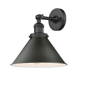 Briarcliff Oiled Rubbed Bronze LED Wall Sconce with Oil Rubbed Bronze Metal Shade