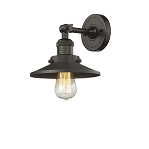 Railroad Oiled Rubbed Bronze One-Light Wall Sconce