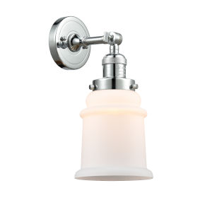 Canton Polished Chrome One-Light Wall Sconce with Engraved Cast Cup