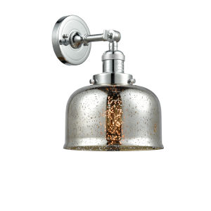 Large Bell Polished Chrome One-Light Wall Sconce