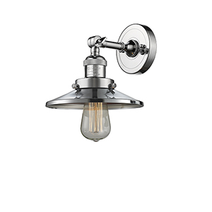 Railroad Polished Chrome One-Light Wall Sconce