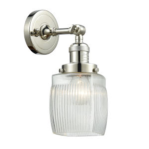 Colton Polished Nickel One-Light Wall Sconce with Engraved Cast Cup