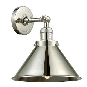 Briarcliff Polished Nickel One-Light Wall Sconce