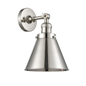 Appalachian Polished Nickel One-Light Wall Sconce