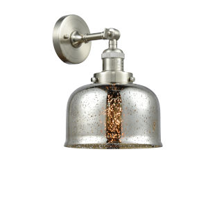 Large Bell Brushed Satin Nickel One-Light Wall Sconce