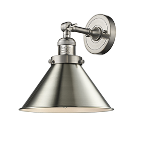 Briarcliff Brushed Satin Nickel LED Wall Sconce