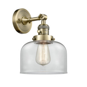 Franklin Restoration Antique Brass Eight-Inch One-Light Wall Sconce