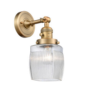 Colton Brushed Brass One-Light Wall Sconce