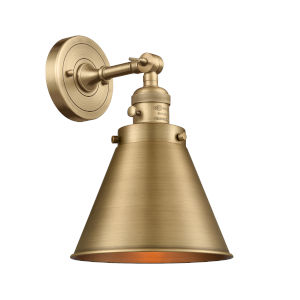 Appalachian Brushed Brass One-Light Wall Sconce High-Low Off Switch