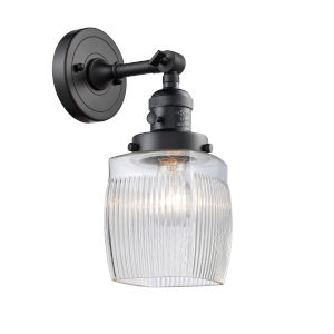 Colton Matte Black One-Light Wall Sconce