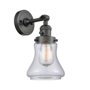 Franklin Restoration Oil Rubbed Bronze Seven-Inch One-Light Wall Sconce with Clear Bellmont Shade