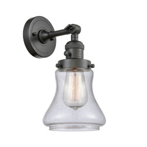 Franklin Restoration Oil Rubbed Bronze Seven-Inch One-Light Wall Sconce with Seedy Bellmont Shade