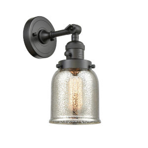 Small Bell Oil Rubbed Bronze One-Light Wall Sconce with High-Low Off Switch