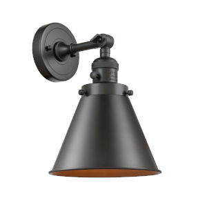 Appalachian Oil Rubbed Bronze One-Light Wall Sconce High-Low Off Switch