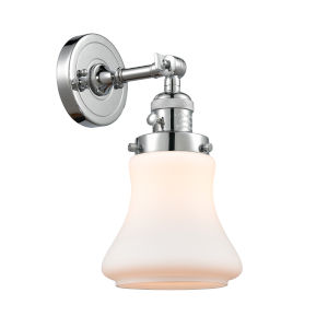 Franklin Restoration Polished Chrome 11-Inch One-Light Wall Sconce with Matte White Bellmont Shade