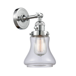 Franklin Restoration Polished Chrome Seven-Inch One-Light Wall Sconce with Clear Bellmont Shade