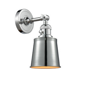 Franklin Restoration Polished Chrome Five-Inch One-Light Wall Sconce