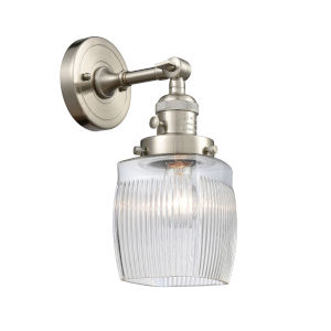 Colton Brushed Satin Nickel One-Light Wall Sconce