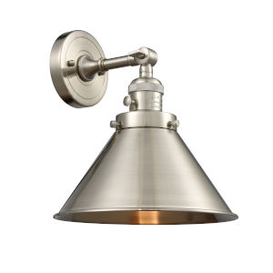 Franklin Restoration Brushed Satin Nickel 10-Inch One-Light Wall Sconce