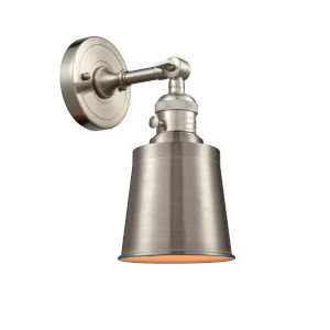 Franklin Restoration Brushed Satin Nickel Five-Inch One-Light Wall Sconce