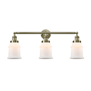 Canton Antique Brass Three-Light LED Bath Vanity