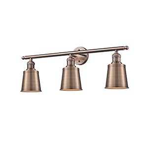 Addison Antique Copper Three-Light Bath Vanity