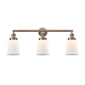 Canton Antique Copper Three-Light LED Bath Vanity